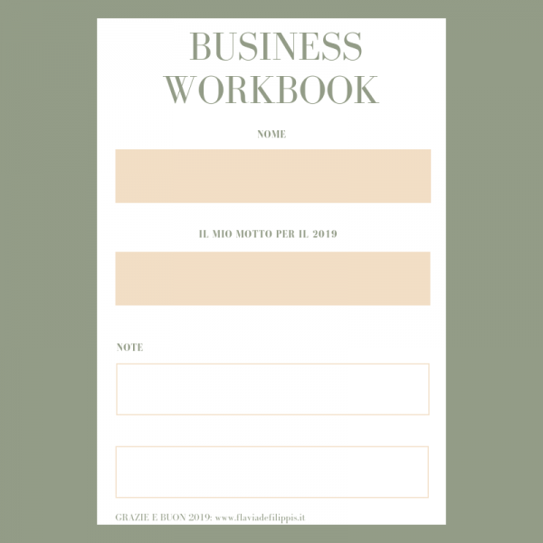 Blogger WORKBOOK